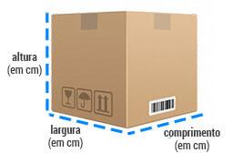 Como medir as dimensões cúbicas de uma caixa